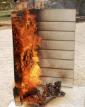Fire Resistant Siding, Burn Test